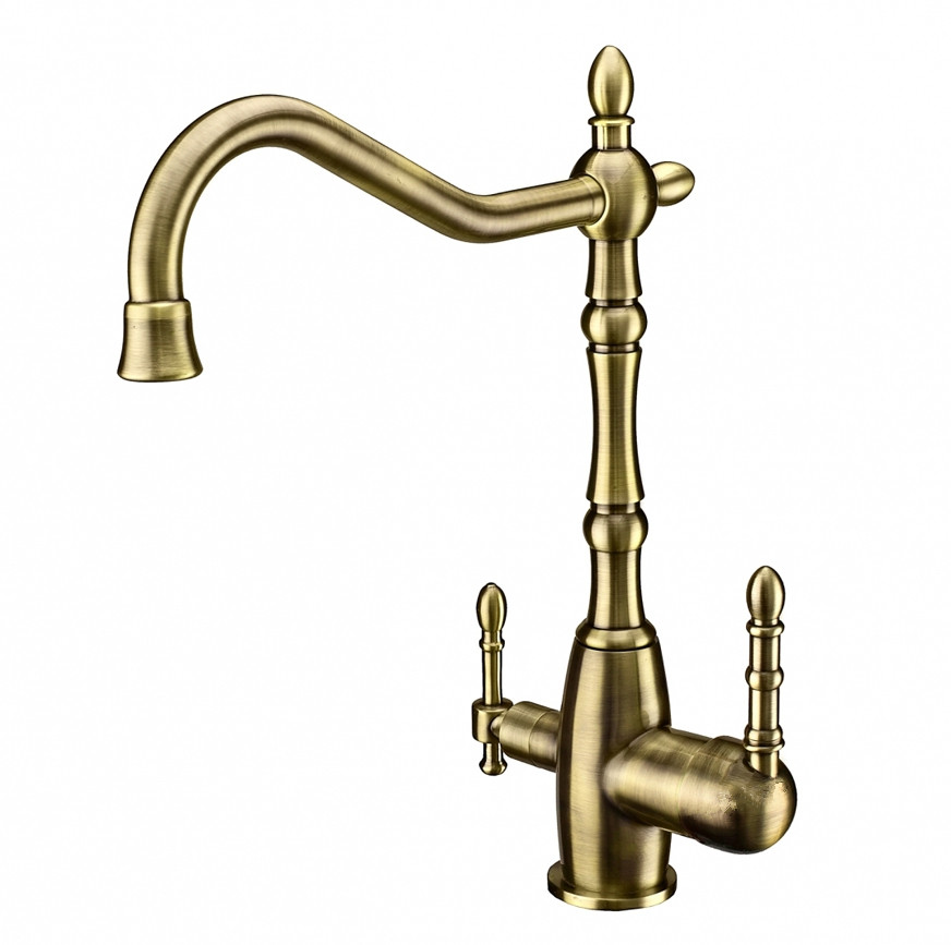 Rolya Antique Bronze Victoria Clean Water Kitchen Faucet 3 Way Water Filter Tap