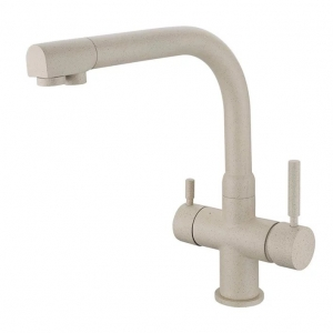 rolya sandbeige kitchen sink faucet granite 3 way water filter taps