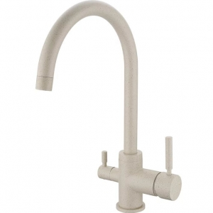 rolya sandbeige kitchen mixer faucet granite 3 way water filter taps