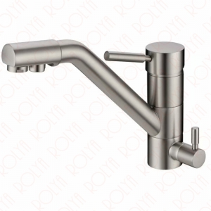 rolya brushed nickle longreach kitchen faucets 3 way water filter taps