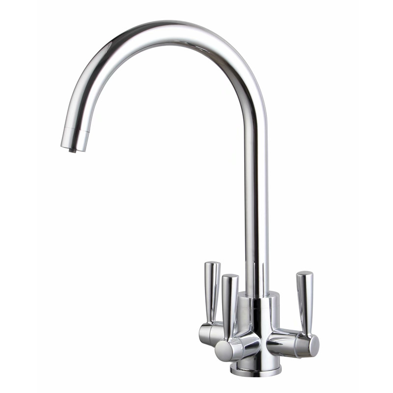 ROLYA New Arrival Tri-Pure Tap 3 Way Water Filter Kitchen Mixer Faucet
